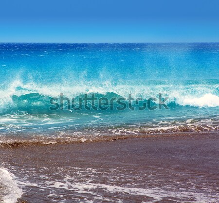 Cancun Karib tenger tengerpart part türkiz Stock fotó © lunamarina