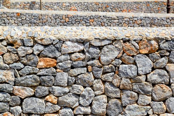 メーソンリー 壁 観点 グレー 石灰岩 マヨルカ島 ストックフォト © lunamarina