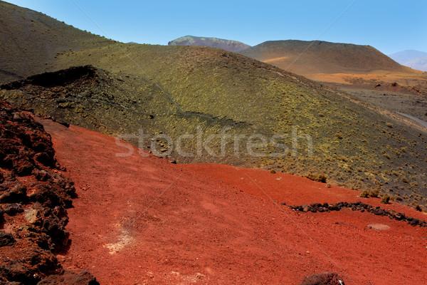 Fogo montanhas vulcânico lava parque pedra Foto stock © lunamarina