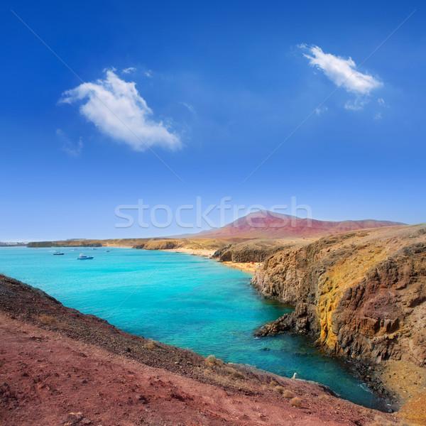 Lanzarote Playa del Pozo beach costa Papagayo Stock photo © lunamarina