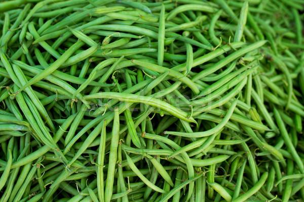 Groene bonen markt groenten voedsel texturen patroon Stockfoto © lunamarina