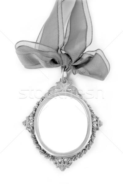 Gümüş bant döngü bo yalıtılmış beyaz Stok fotoğraf © lunamarina