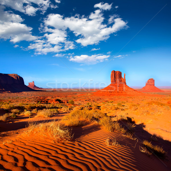 Monument Valley West and East Mittens Butte Utah Stock photo © lunamarina
