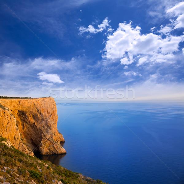 san Antonio Cape high angle view of Mediterranean Sea Stock photo © lunamarina