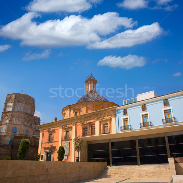 Valencia downtown cathedral and basilica Spain Stock photo © lunamarina