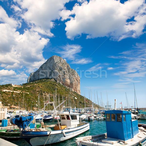 Marina barcos montanha mediterrânico mar Espanha Foto stock © lunamarina
