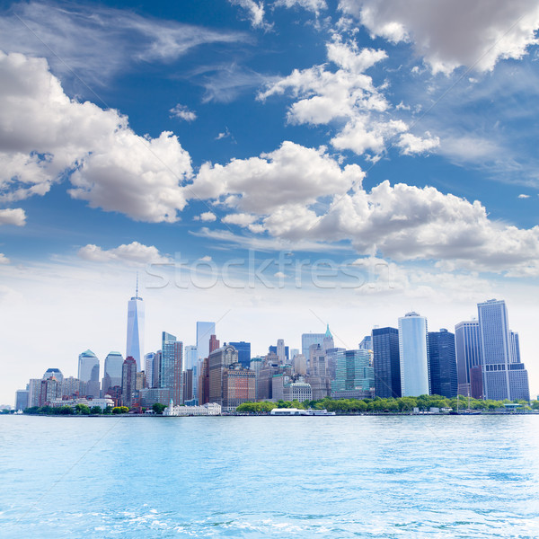 Manhattan New York Skyline ny USA affaires Photo stock © lunamarina