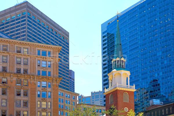 Boston Old South Meeting House historic site Stock photo © lunamarina
