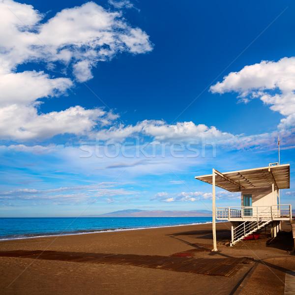 ビーチ ライフガード 家 スペイン 水 雲 ストックフォト © lunamarina
