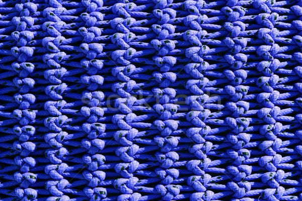 fisherboat net macro detail texture blue knots Stock photo © lunamarina