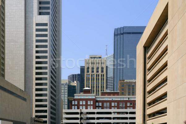 Dallas belváros város városi kilátás épületek Stock fotó © lunamarina