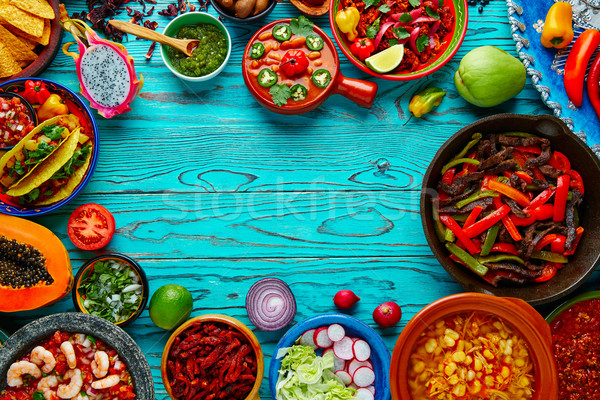 Mexican food mix colorful background Mexico Stock photo © lunamarina