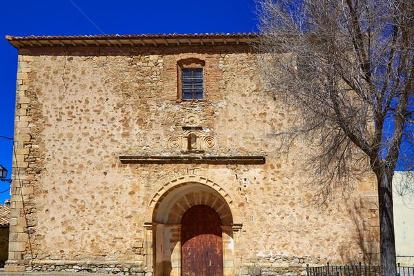 Moscardon church in Sierra Albarracin of Teruel Stock photo © lunamarina