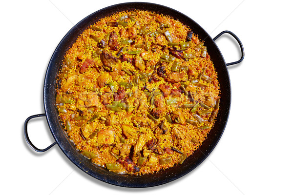 Paella from Spain rice recipe Stock photo © lunamarina
