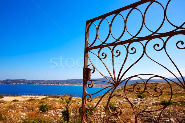 Javea Mediterranean fence in San Antonio Cape Stock photo © lunamarina