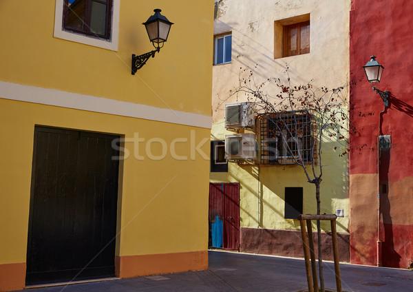 Valencia utca óváros Spanyolország épület művészet Stock fotó © lunamarina