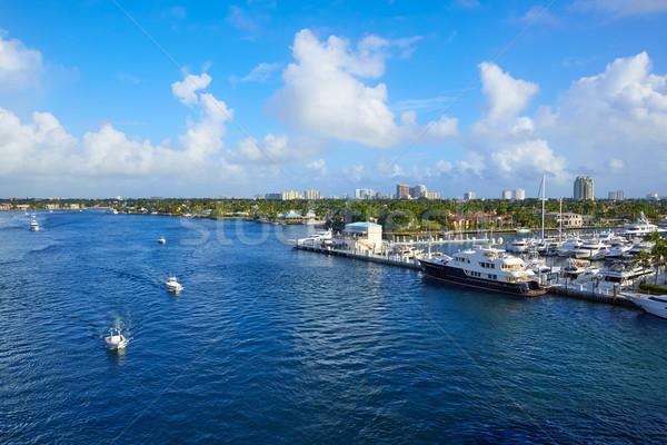 フォートローダーデール 川 フロリダ 米国 ビーチ 空 ストックフォト © lunamarina