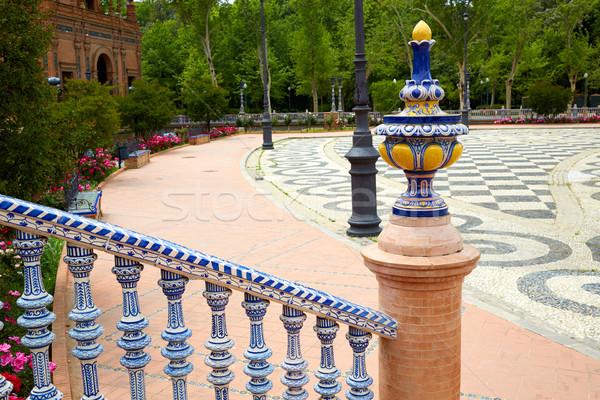 Seville Sevilla Plaza de Espana Andalusia Spain Stock photo © lunamarina
