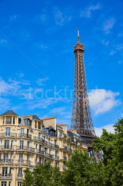 Stok fotoğraf: Eyfel · Kulesi · Paris · Fransa · gökyüzü · Bina · şehir
