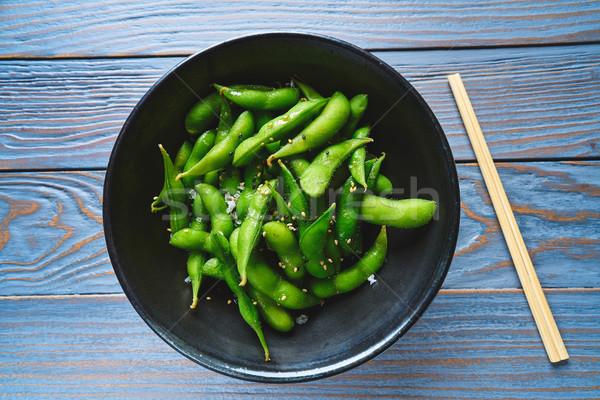 Edamame fresh soya beans immature soybeans Stock photo © lunamarina