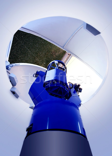 astronomical observatory telescope indoor night Stock photo © lunamarina