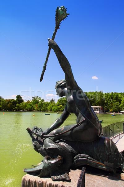 Madrid sirena estatua urbanas arquitectura vacaciones Foto stock © lunamarina