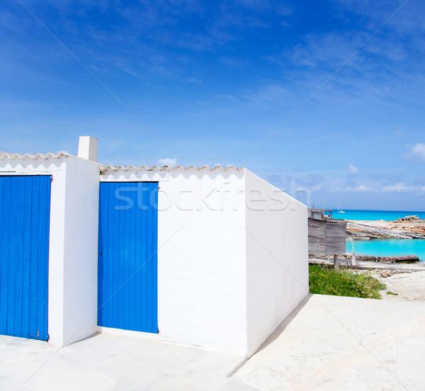 Es Calo de San Agusti in Formentera island Stock photo © lunamarina