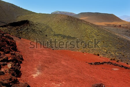 Lanzarote Timanfaya volcano crater in Canaries Stock photo © lunamarina