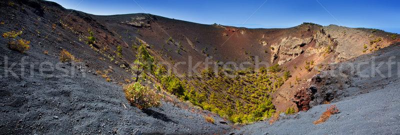 Crater La Palma San Antonio volcano Fuencaliente Stock photo © lunamarina