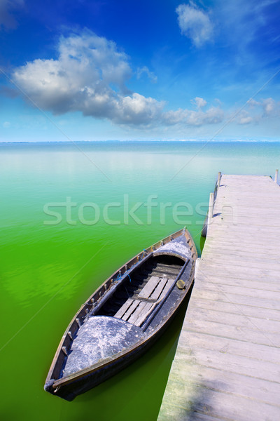 Albufera lake in Valencia El Saler under blue sky Stock photo © lunamarina