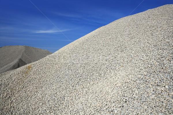gravel gray mound quarry stock blue sky Stock photo © lunamarina