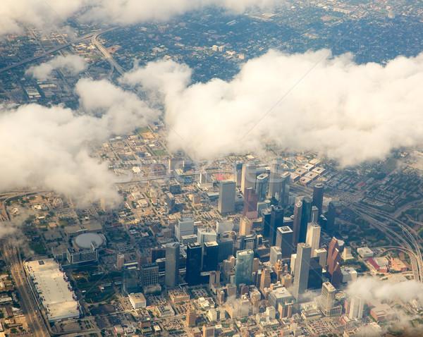 Houston Teksas Cityscape görmek uçak Stok fotoğraf © lunamarina