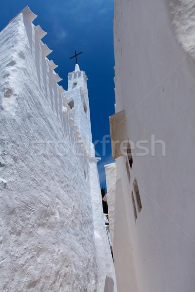 Binibequer Vell in Menorca Binibeca white village Sant Lluis Stock photo © lunamarina