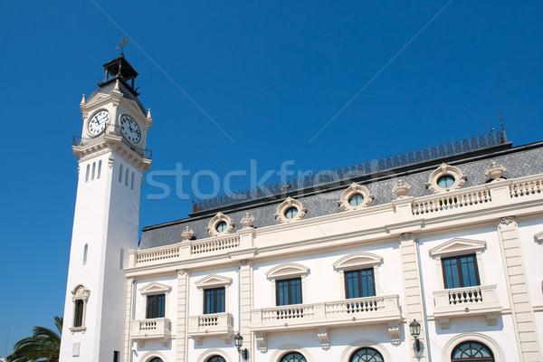 Valencia city port tower building in Spain Stock photo © lunamarina