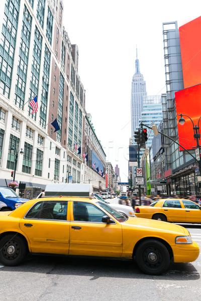 マンハッタン ニューヨーク ニューヨーク市 黄色 タクシー タクシー ストックフォト © lunamarina