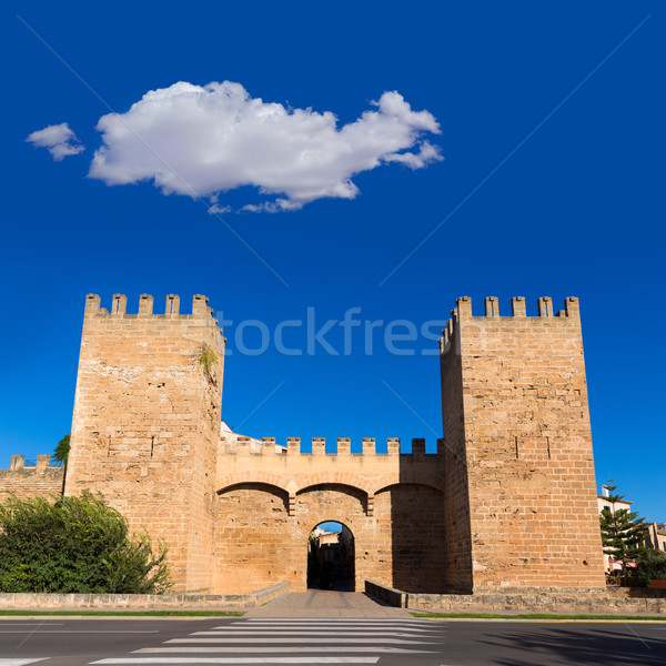 Alcudia Porta de Mallorca in Old town at Majorca Stock photo © lunamarina