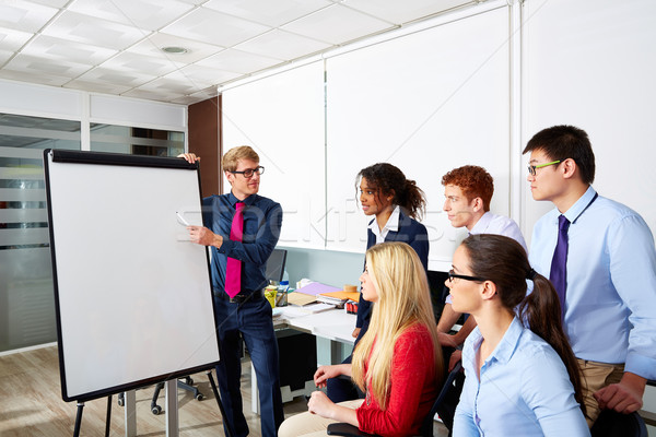 Stock photo: Executive businessman presentation office team