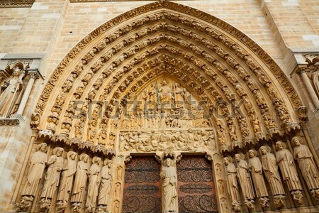 Cathedral of Leon gothic Rosette in Castilla Stock photo © lunamarina