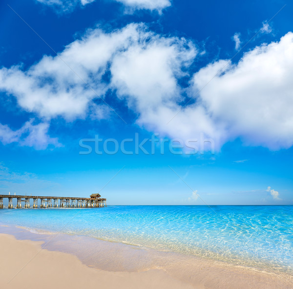 Plage pier Floride Orlando eau paysage Photo stock © lunamarina