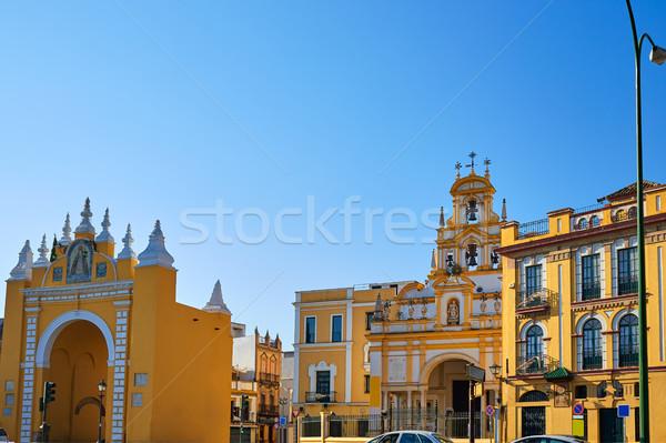 Seville Puerta de la Macarena and Basilica Stock photo © lunamarina