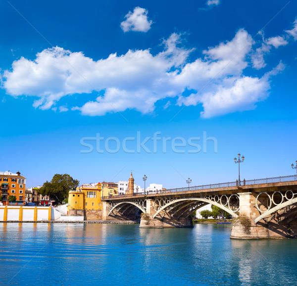 Puente Isabel II bridge in Triana Seville Andalusia Stock photo © lunamarina
