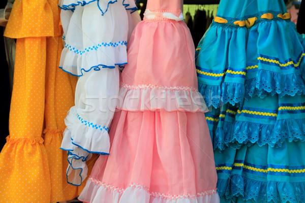 costumes gypsy ruffle dress andalusian Spain Stock photo © lunamarina