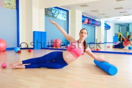 Bosu ball for fitness woman in aerobics gym Stock photo © lunamarina