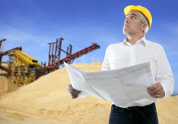 expertise architect senior engineer plan quarry Stock photo © lunamarina