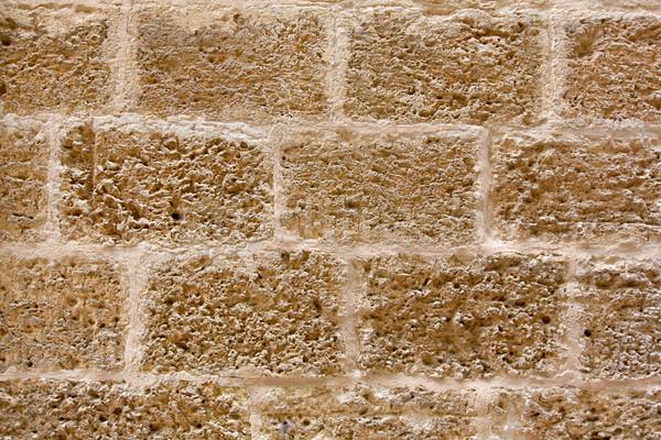 Zamek kamieniarstwo ściany tekstury antyczne budowy Zdjęcia stock © lunamarina