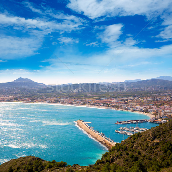 Javea in Alicante aerial view Valencian Community of spain Stock photo © lunamarina