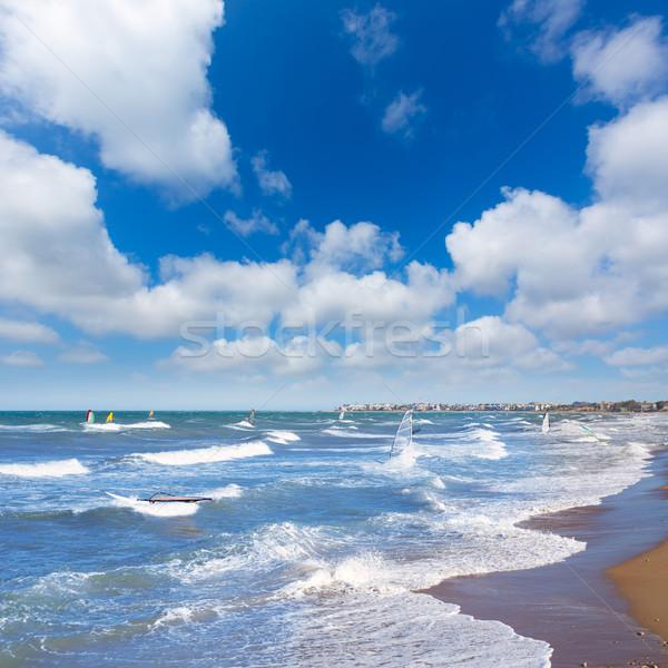 Wind surf in Denia Oliva in Valencian community Mediterranean Stock photo © lunamarina