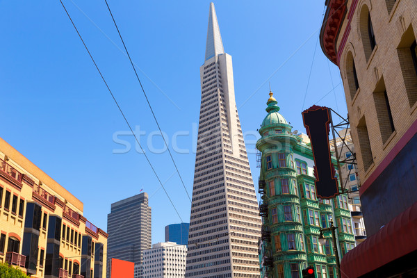San Francisco Columbus Av with Karny St at California Stock photo © lunamarina