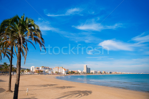 Peniscola beach in Castellon spain Stock photo © lunamarina