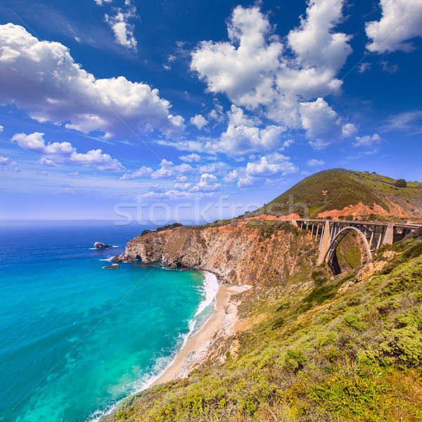 California Bixby bridge in Big Sur Monterey County in Route 1 Stock photo © lunamarina